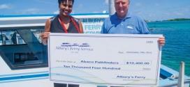 Albury's Ferry Service donates $10,400 to Abaco Pathfinders.