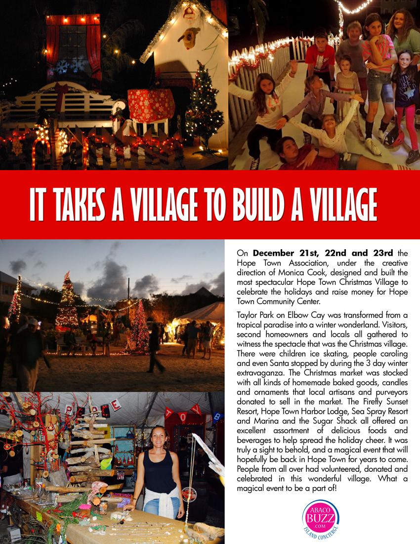 It takes a village to build a village